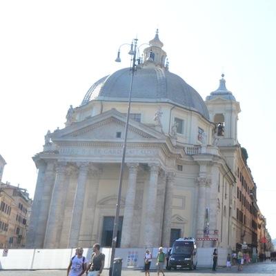 Bernini Church in Piazza del Popolo