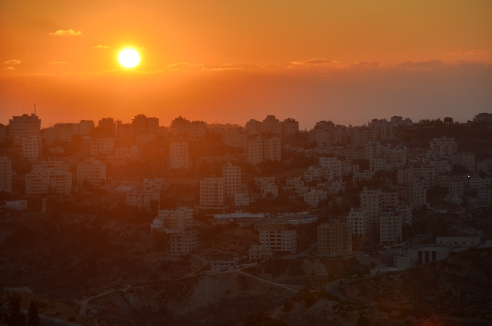 Sunset in Ramallah, Palestine