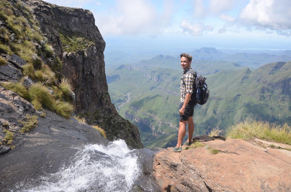 Robert Schrader at Tugela Falls