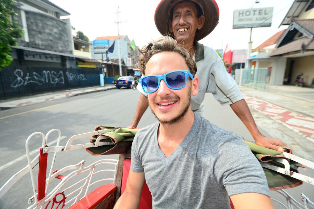 Yogyakarta Indonesia rickshaw