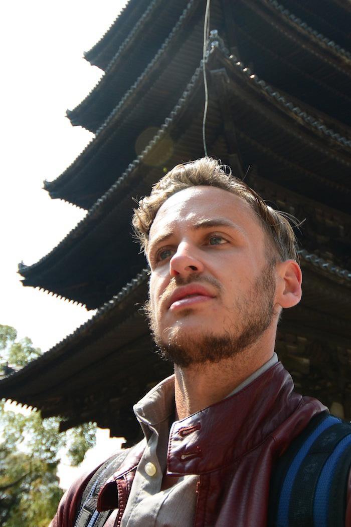 Robert Schrader in Nara, Japan
