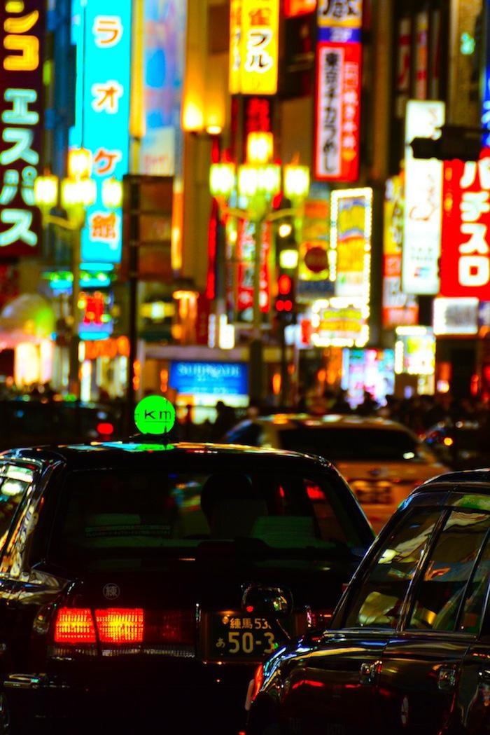 Traffic in Tokyo, Japan