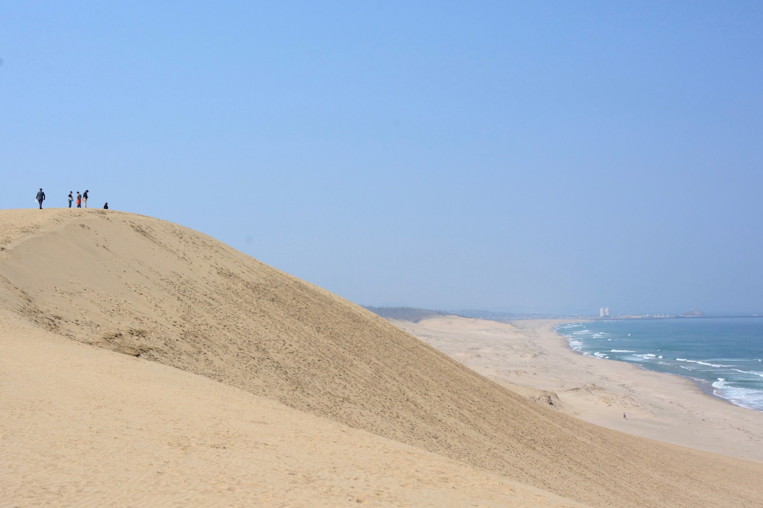 Dunes in desert in Tottori, Japan