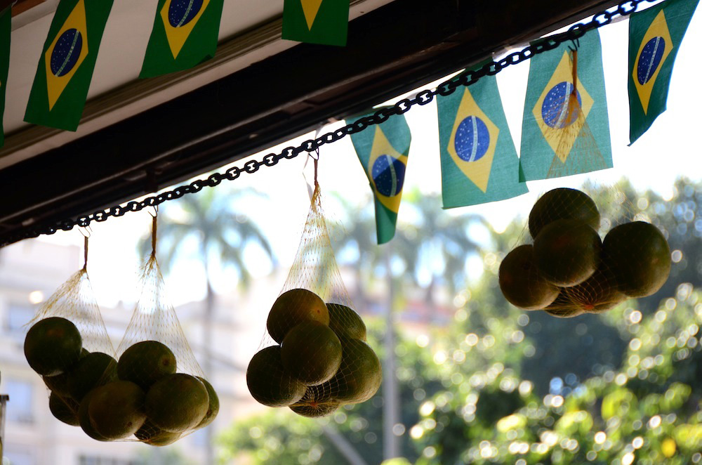 Fruit Seller in Largo de Machado, Rio de Janeiro