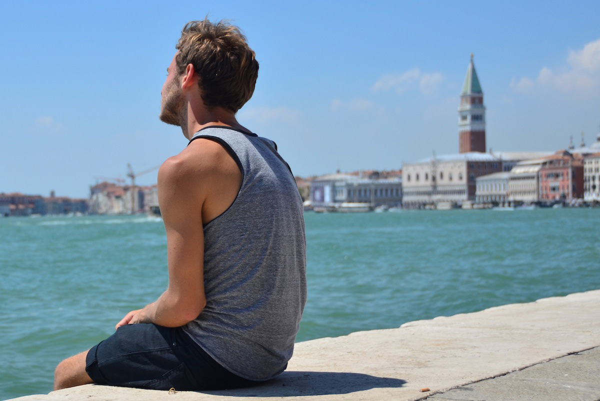 Robert Schrader in Venice, Italy