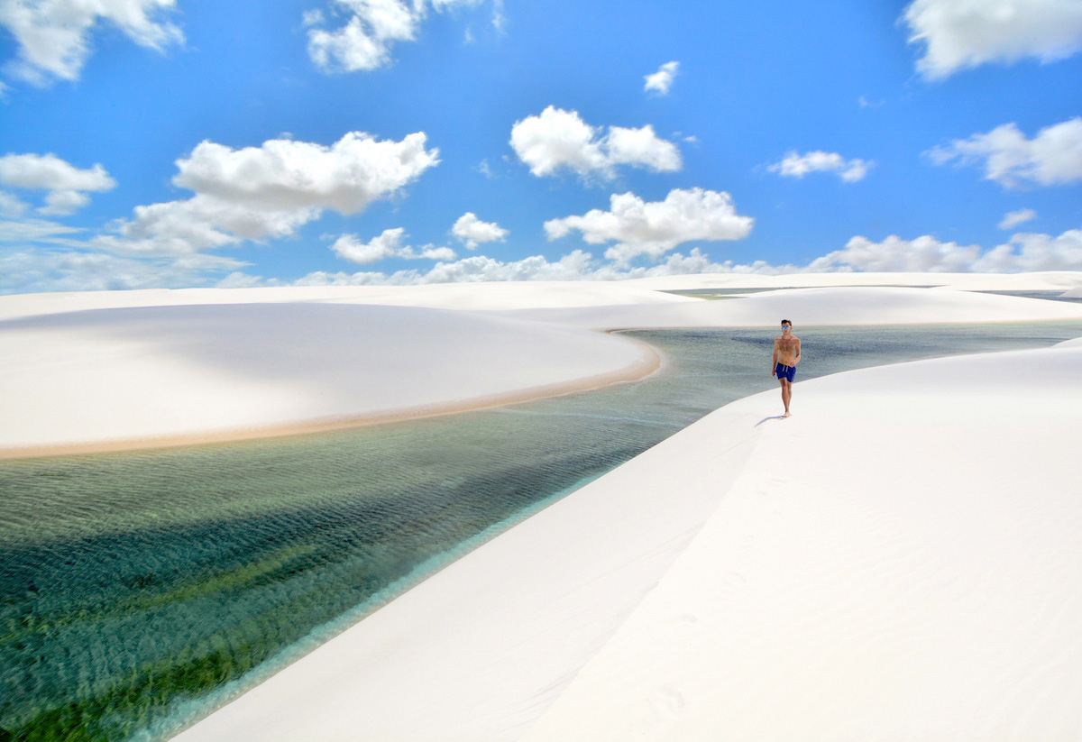 Robert Schrader at the Lençóis Maranhenses in Brazil