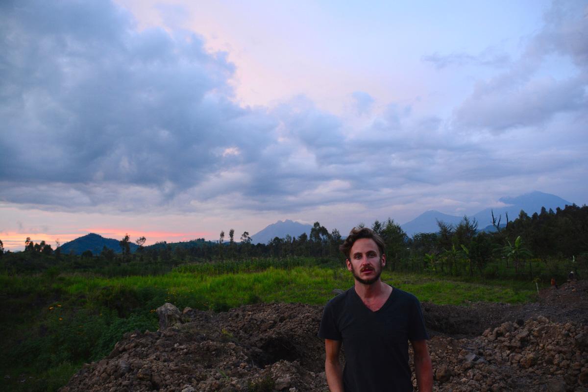 Robert Schrader in Northern Rwanda