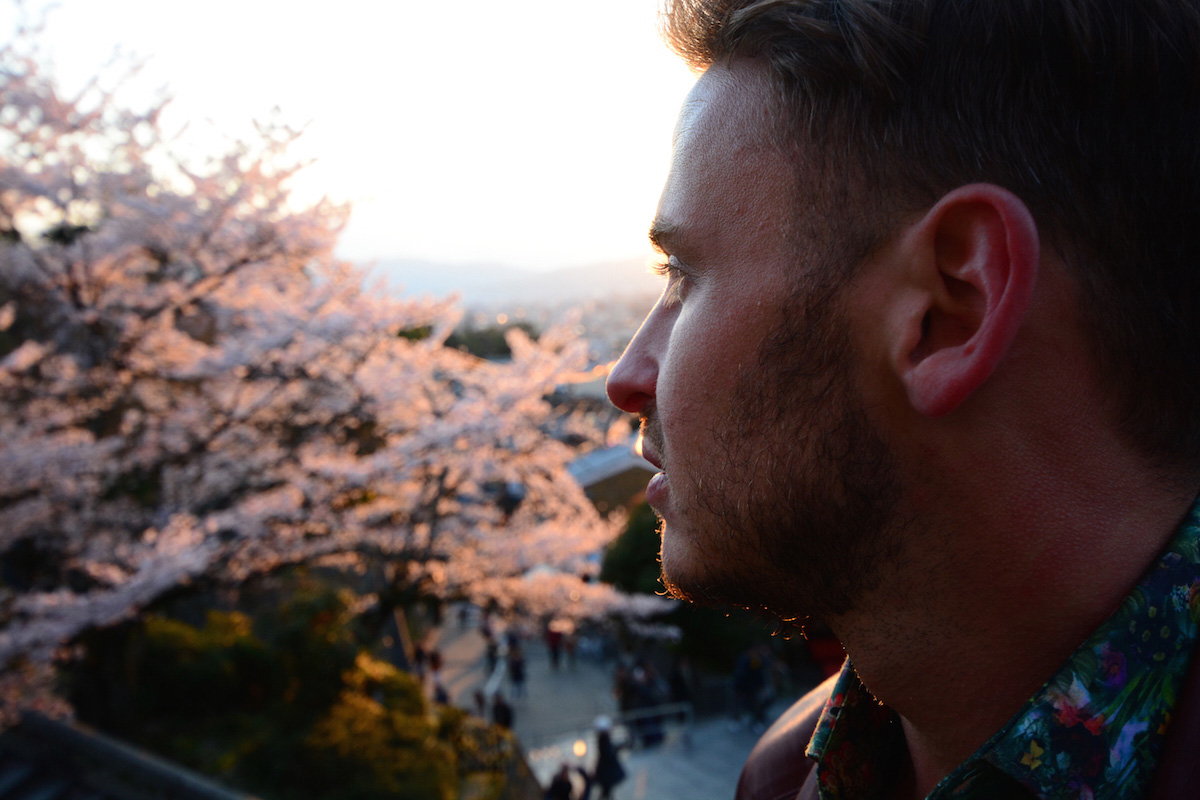 Robert Schrader in Kyoto, Japan