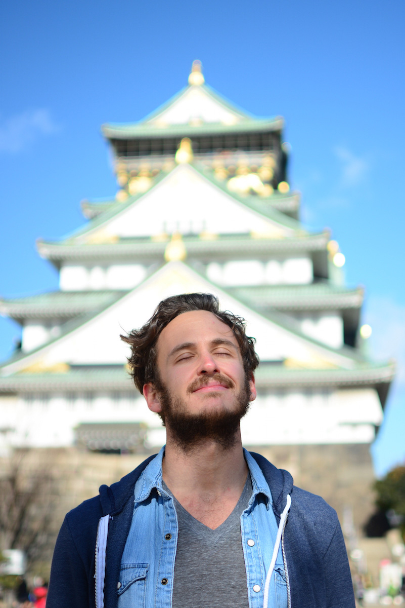Robert Schrader in Osaka, Japan