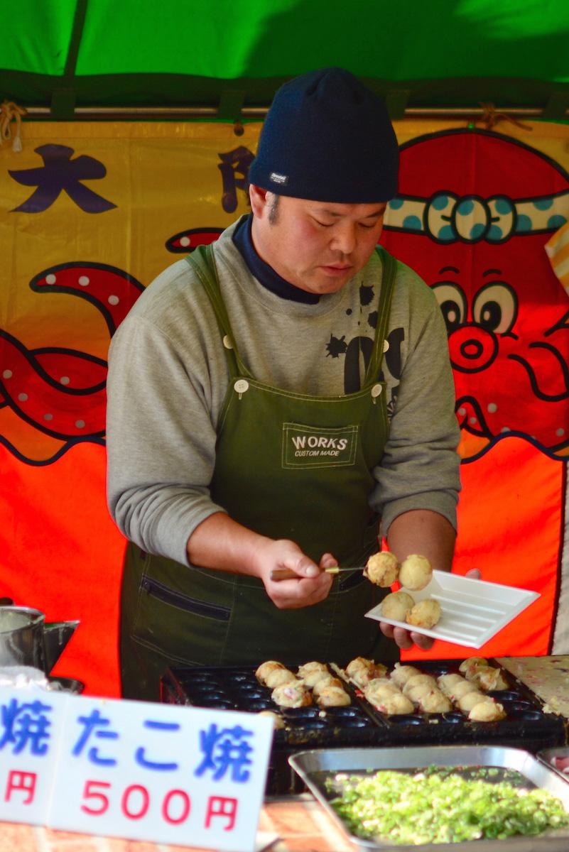 Takoyaki in Osaka, Japan