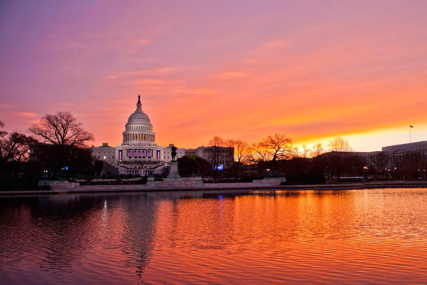 Sunrise in Washington, D.C.