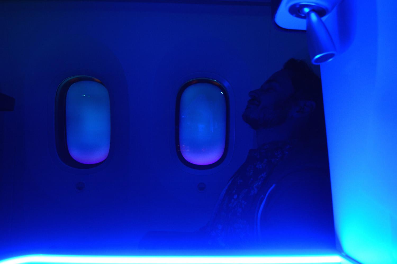 Robert Schrader Onboard the Boeing 787
