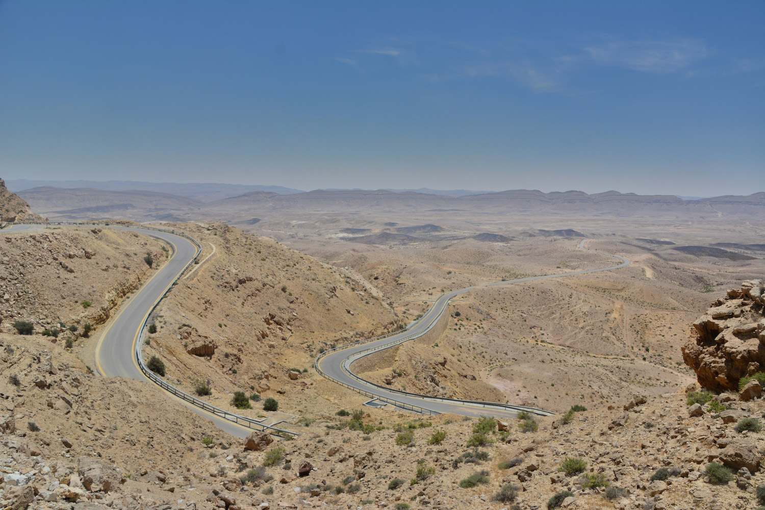 Winding road in Negev Desert