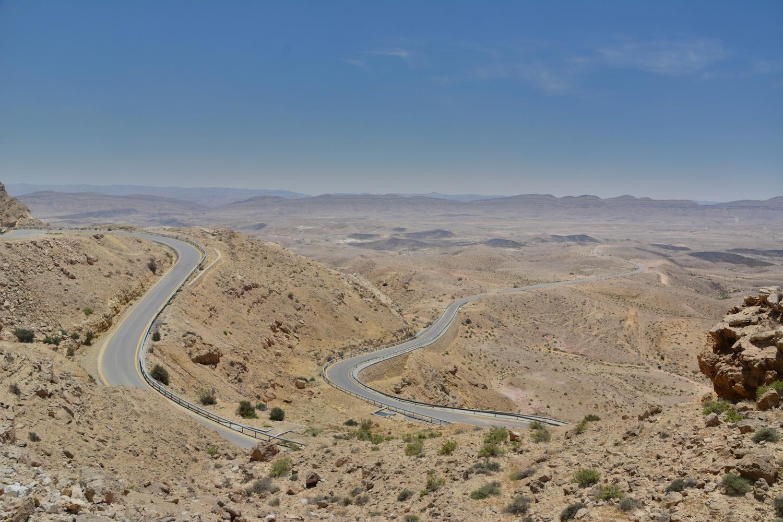 Winding road in Judaean Desert
