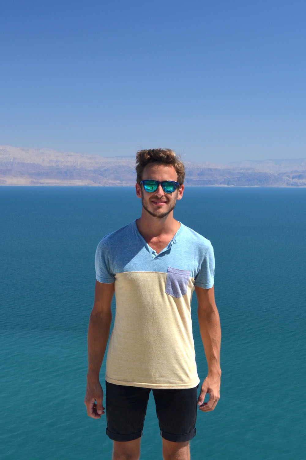 Robert Schrader at the Dead Sea