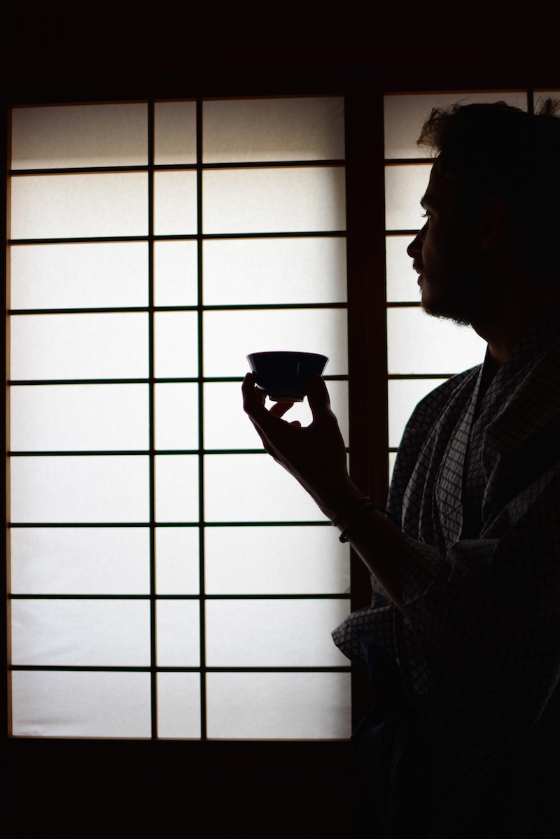 Robert Schrader in a Kyoto ryokan