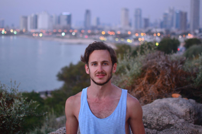 Robert Schrader in Tel Aviv, Israel