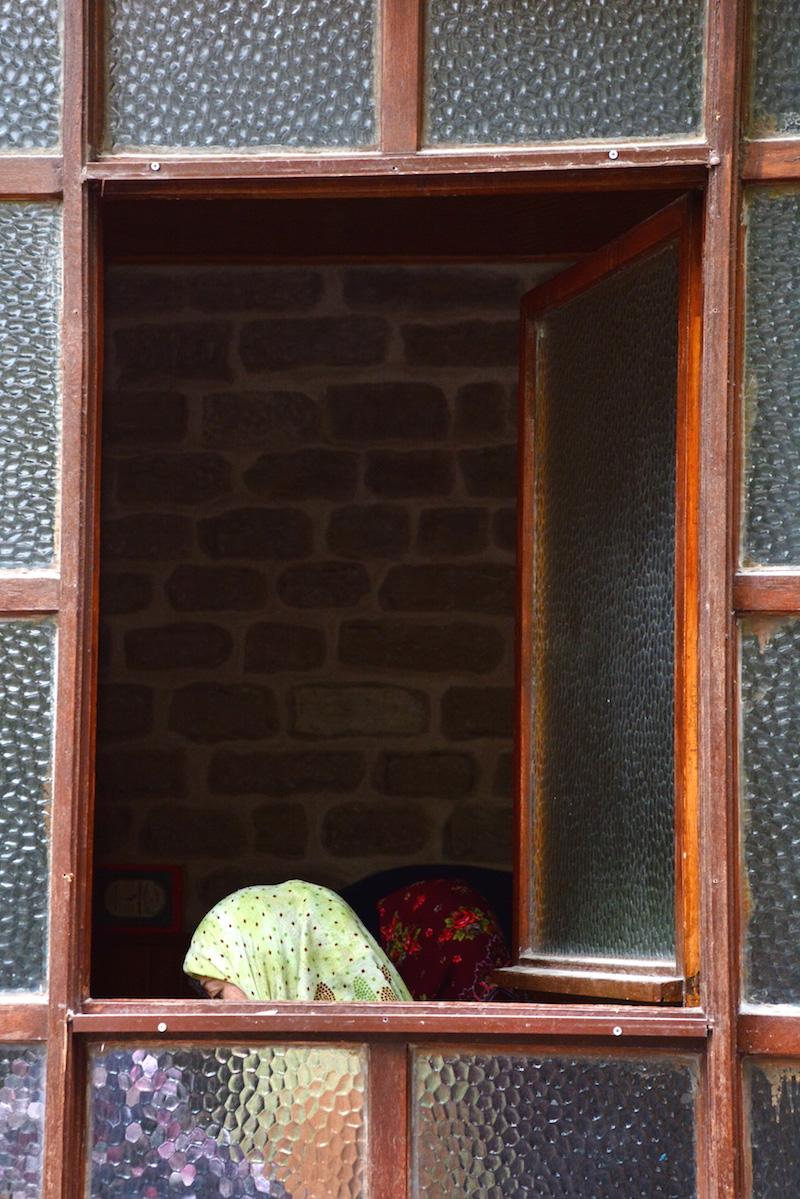 Woman Praying in Konya Turkey