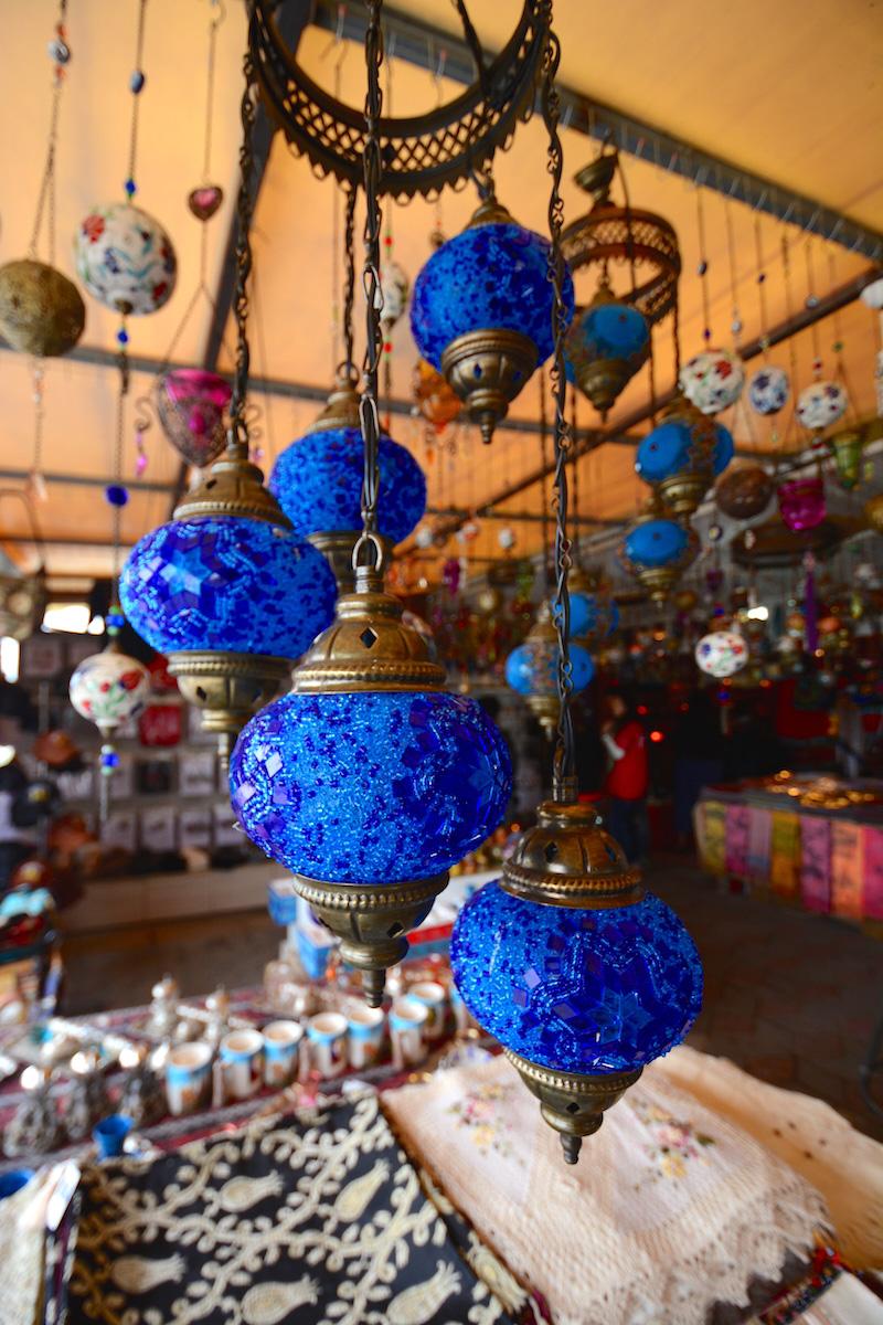 Blue Lamp in Cappadocia, Turkey