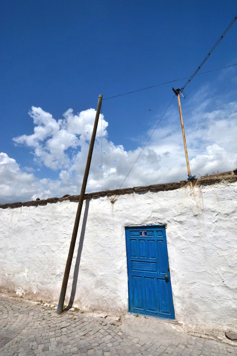 Blue Door in Sille, Turkey