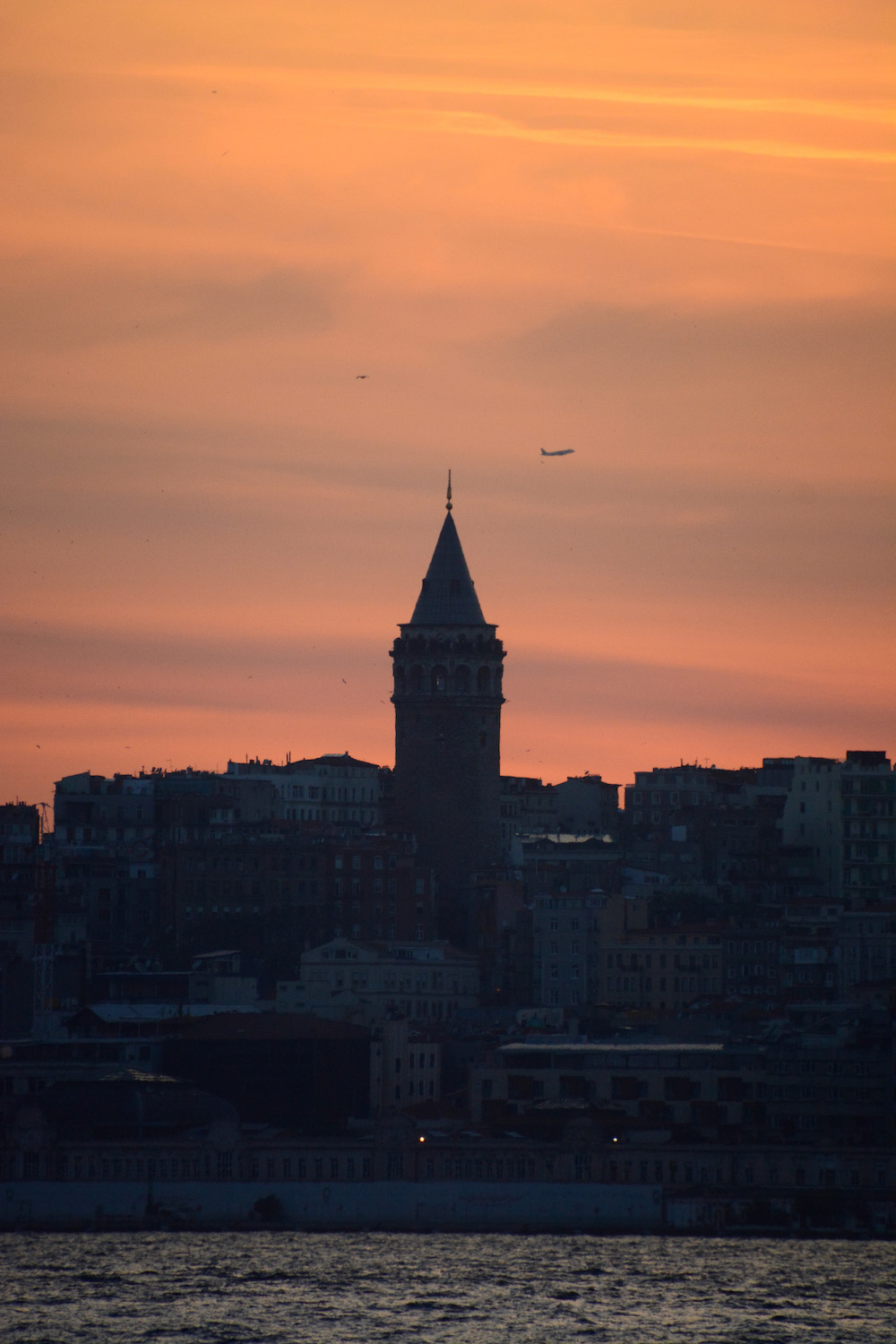 Sunset Behind Galata Tower in Istanbul