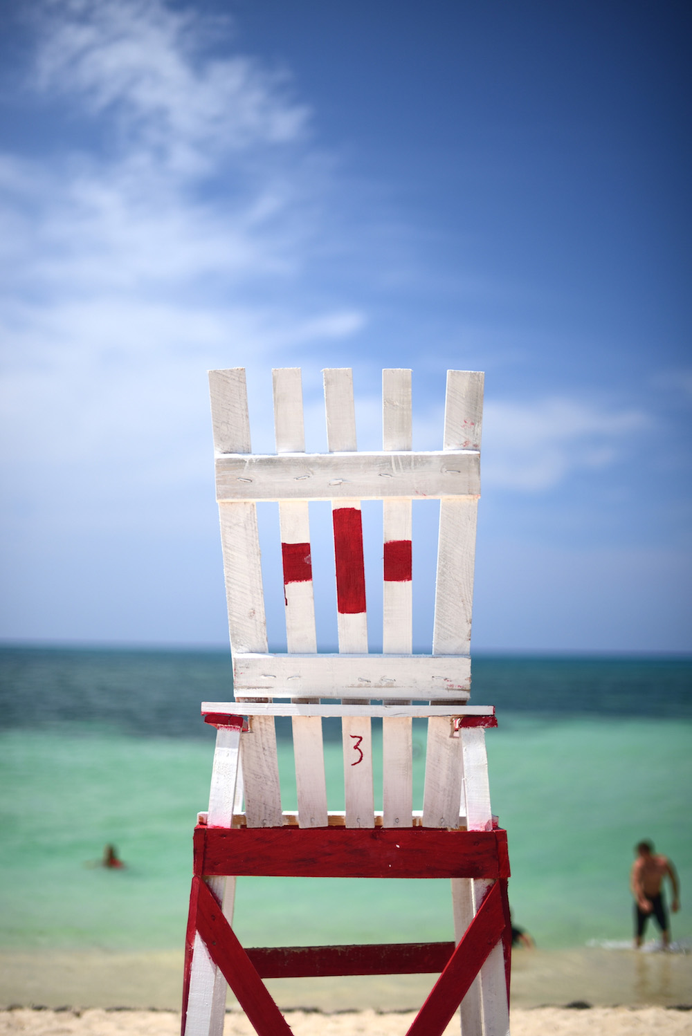 Cuba travel pictures lifeguard chair