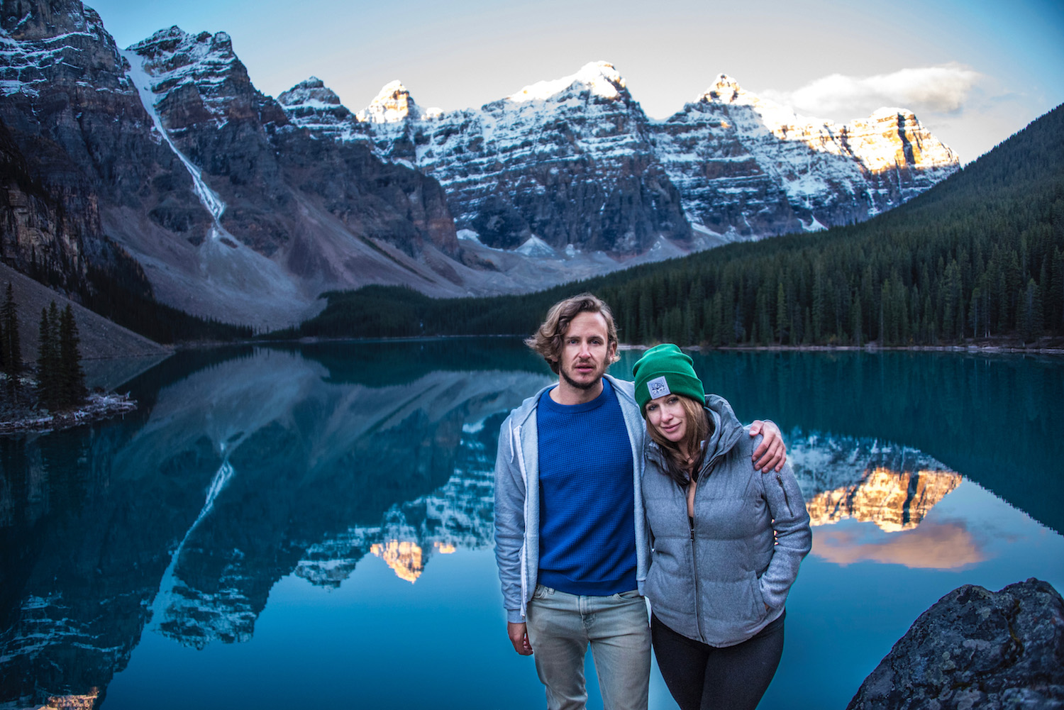 Robert Schrader and Sister at Lake Moraine, Alberta, Canada