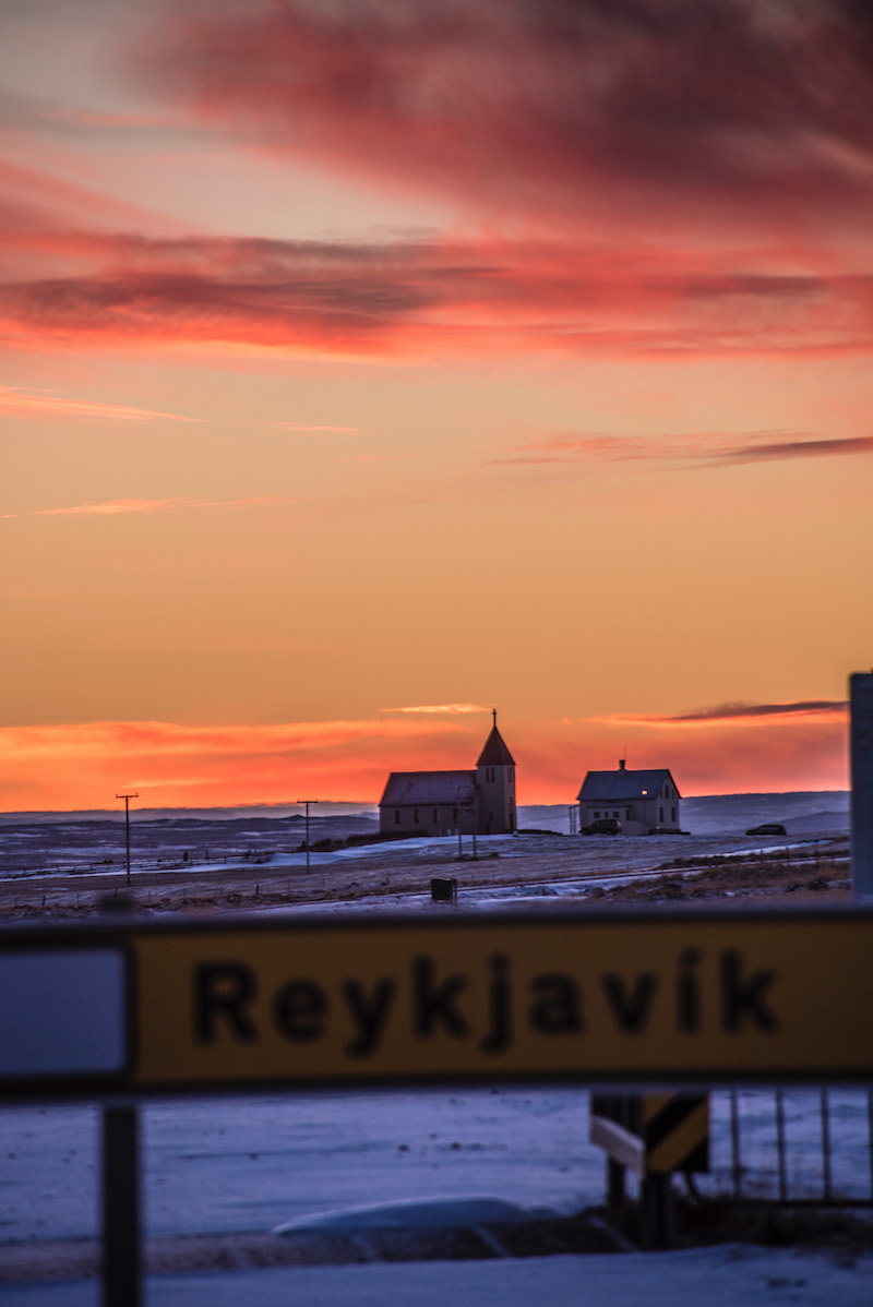 Iceland road trip Reykjavik Sunrise