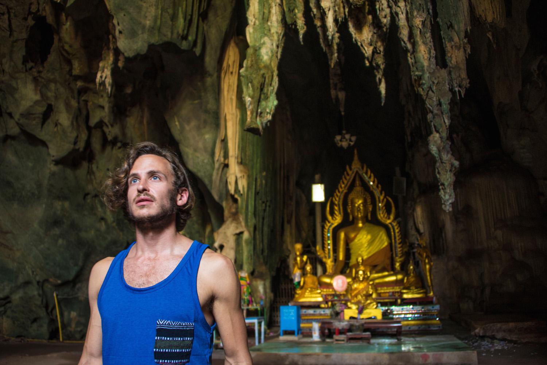 Robert Schrader in a Cave Temple near Bangkok, Thailand