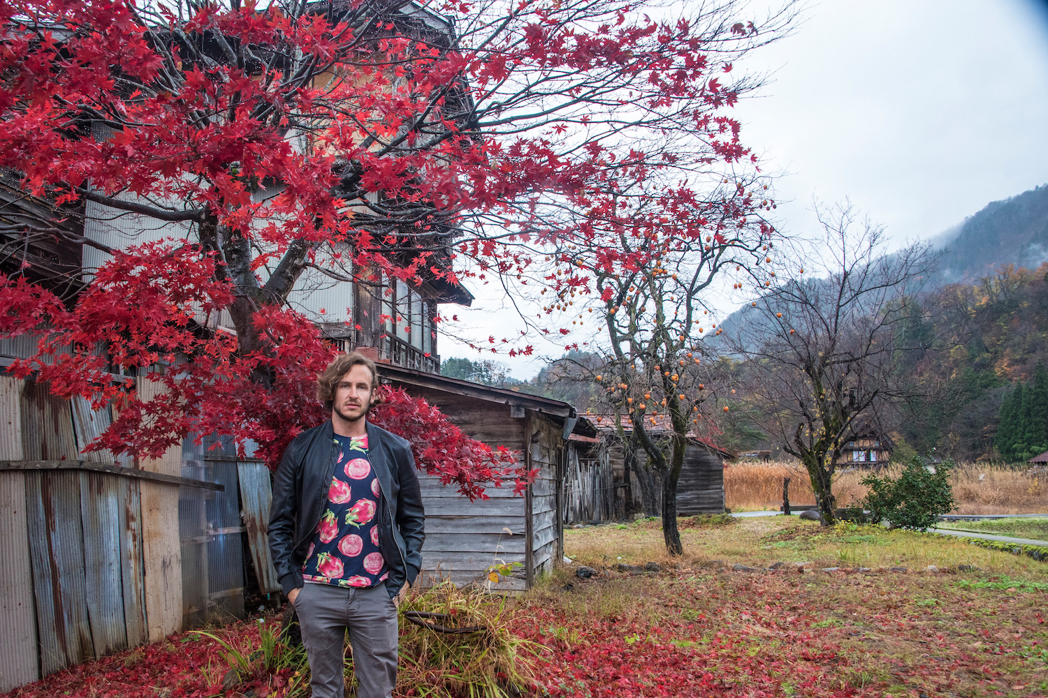 Robert Schrader in Shirakawa-go, Japan