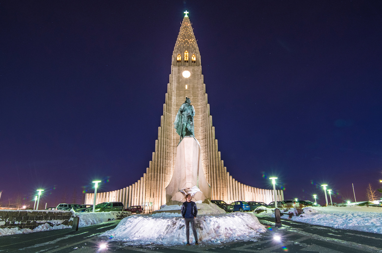Iceland road trip Reykjavik church