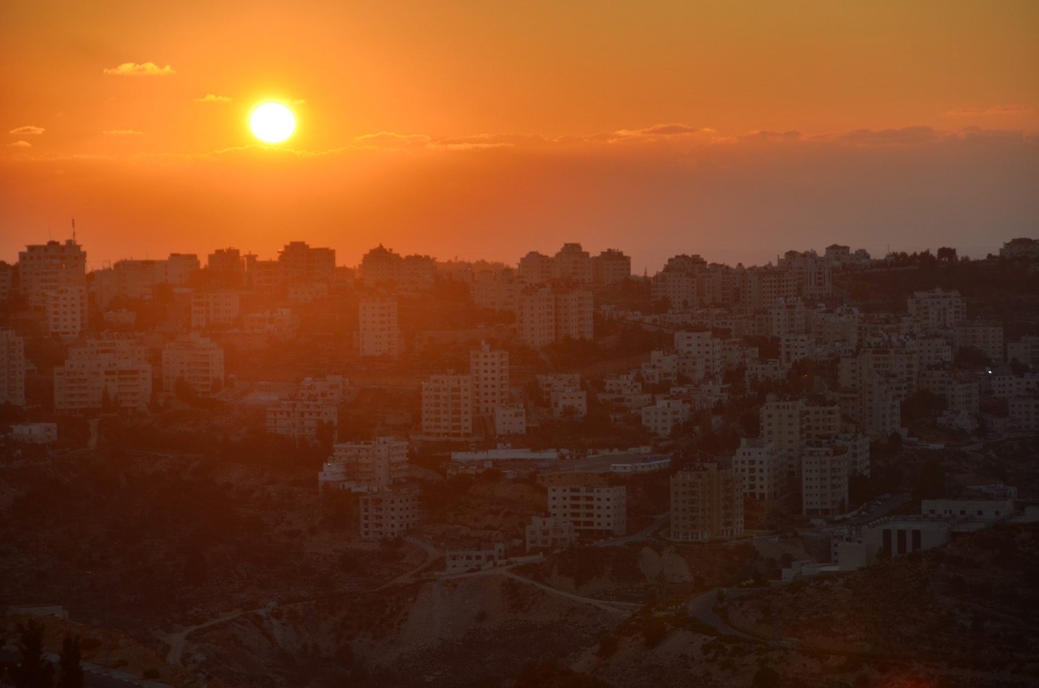 Sunset in Ramallah