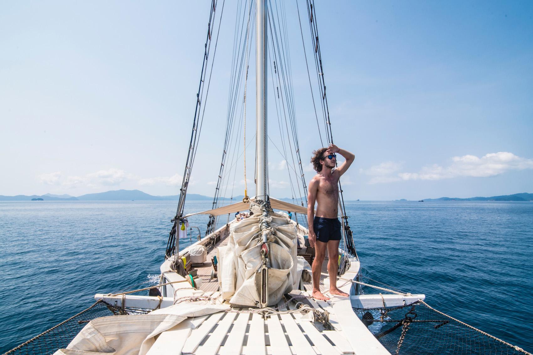 Robert Schrader in Myanmar's Mergui Archipelago