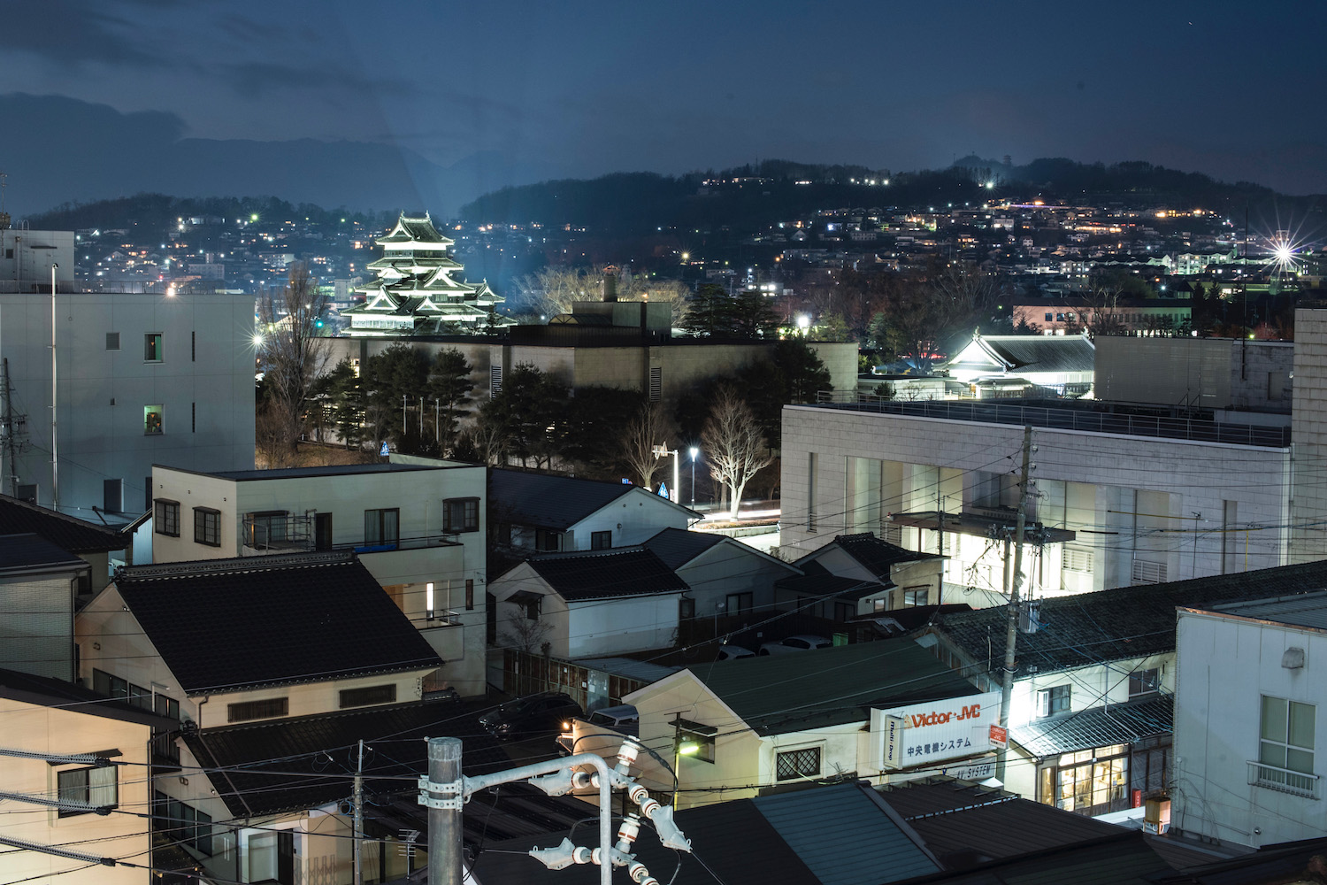 Matsumoto, Japan at Dusk