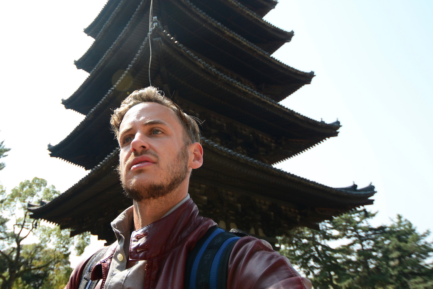 Robert Schrader in Nara, Japan