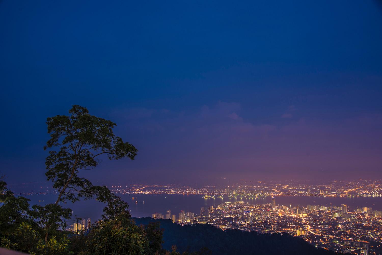 Penang Malaysia at night