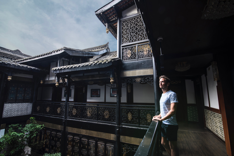Robert Schrader in Chengdu, China