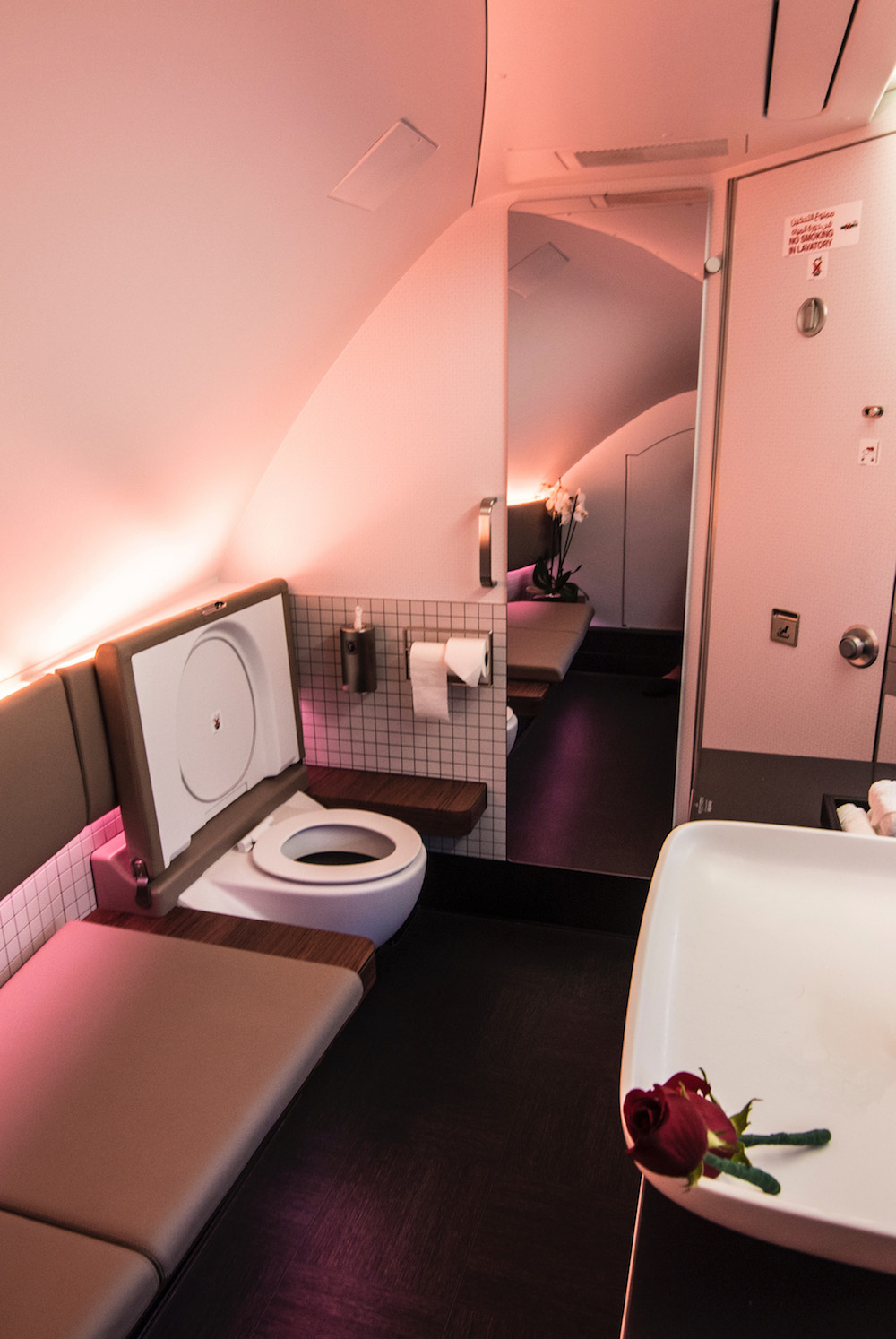 Qatar Airways First Class Food Quality And Seat Comfort