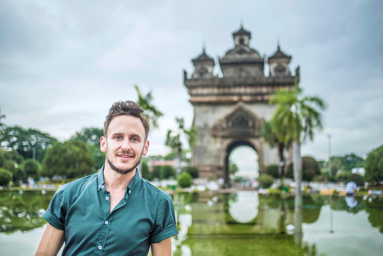 Robert Schrader in Vientiane, Laos