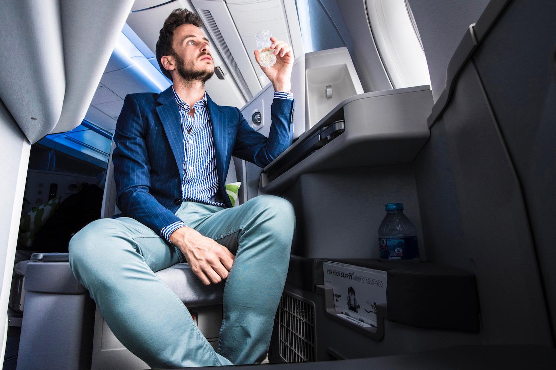 Robert Schrader in Finnair Business Class