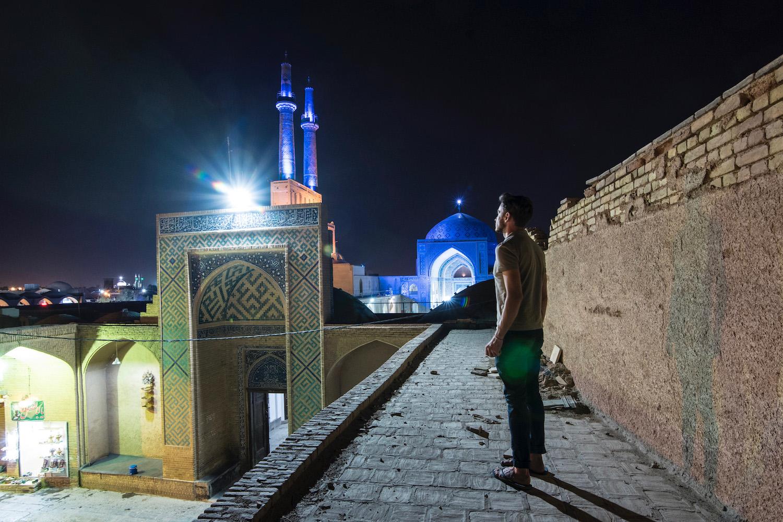 Robert Schrader in Yazd, Iran