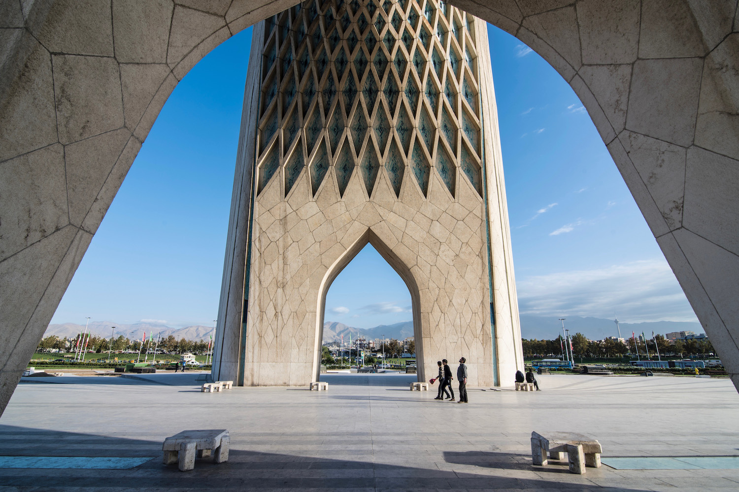 Iran travel pictures Azadi Tower