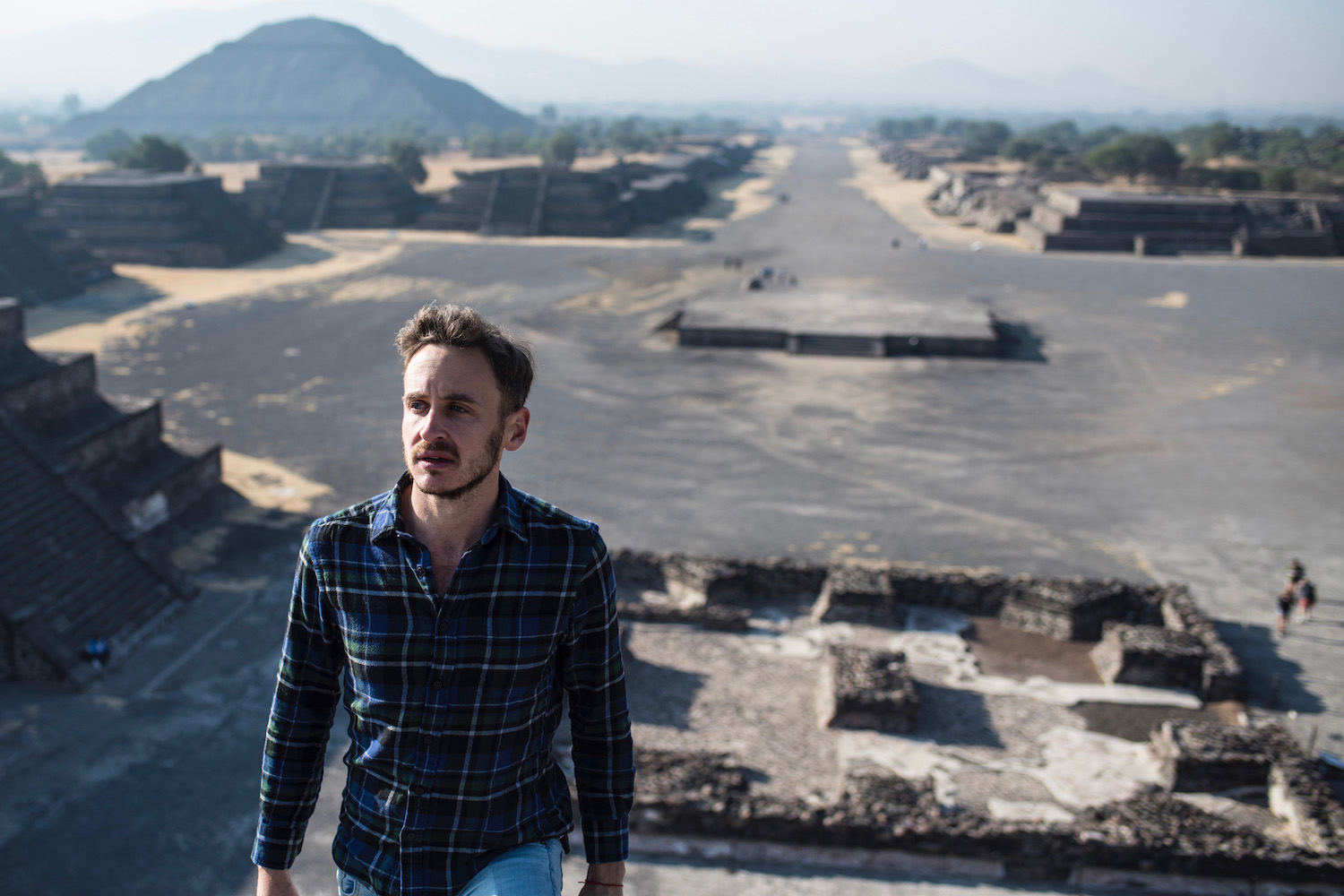 Robert Schrader at Teotihuacan, Mexico