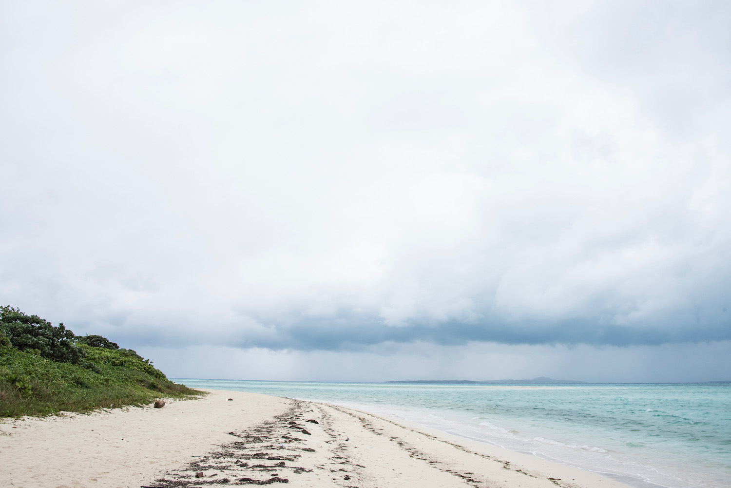 Grey sky over beach in Taketomi Ishigaki - Ishigaki Travel Guide