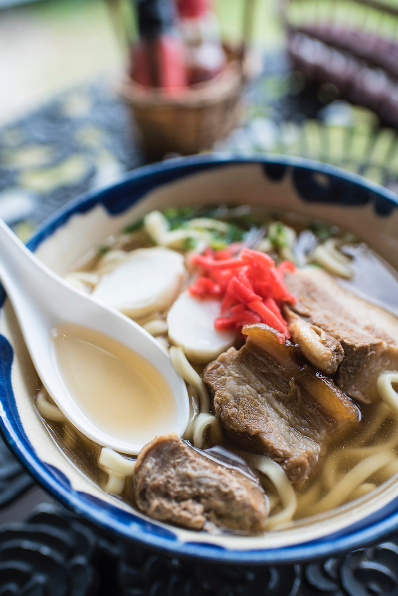 Noodle in Okinawa in winter