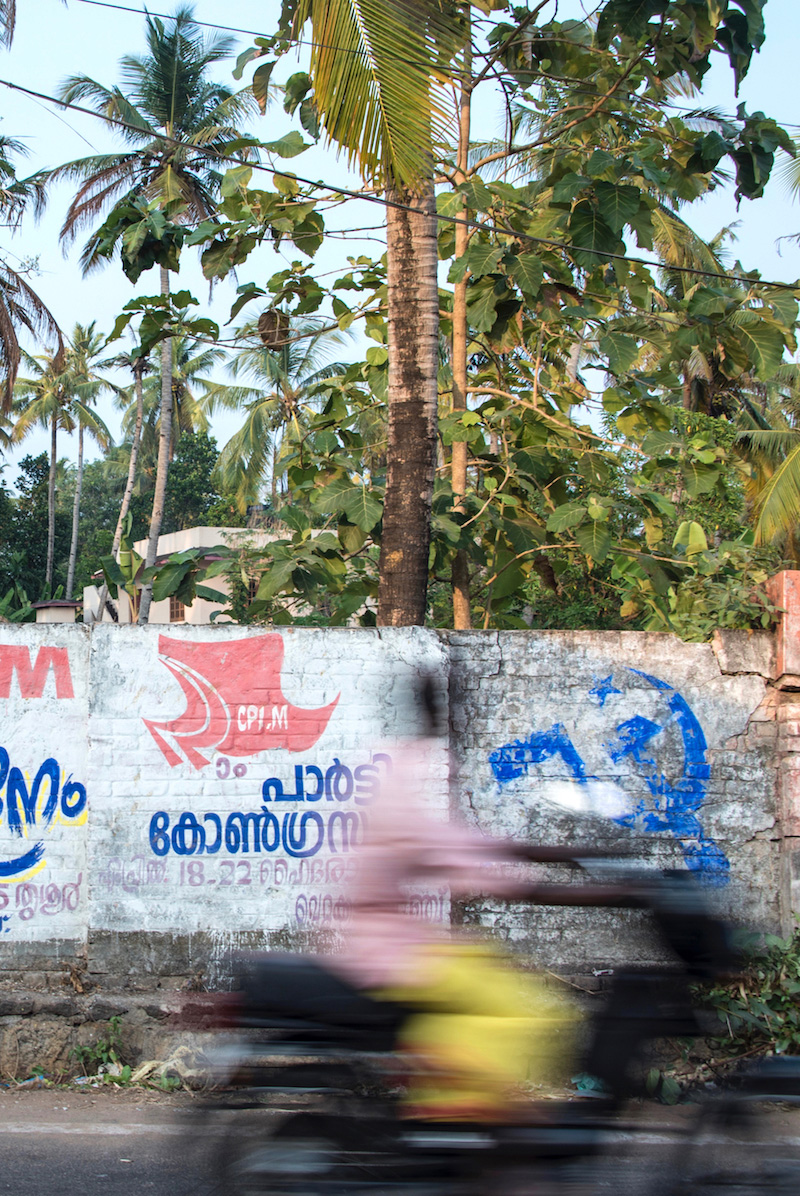 Communist graffiti in Kerala