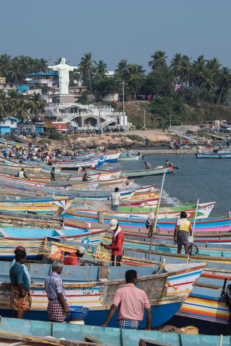 Boats in Vizhinjam, India Kerala India