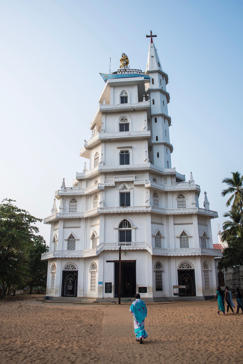 Church in Vizhinjam, India Kerala