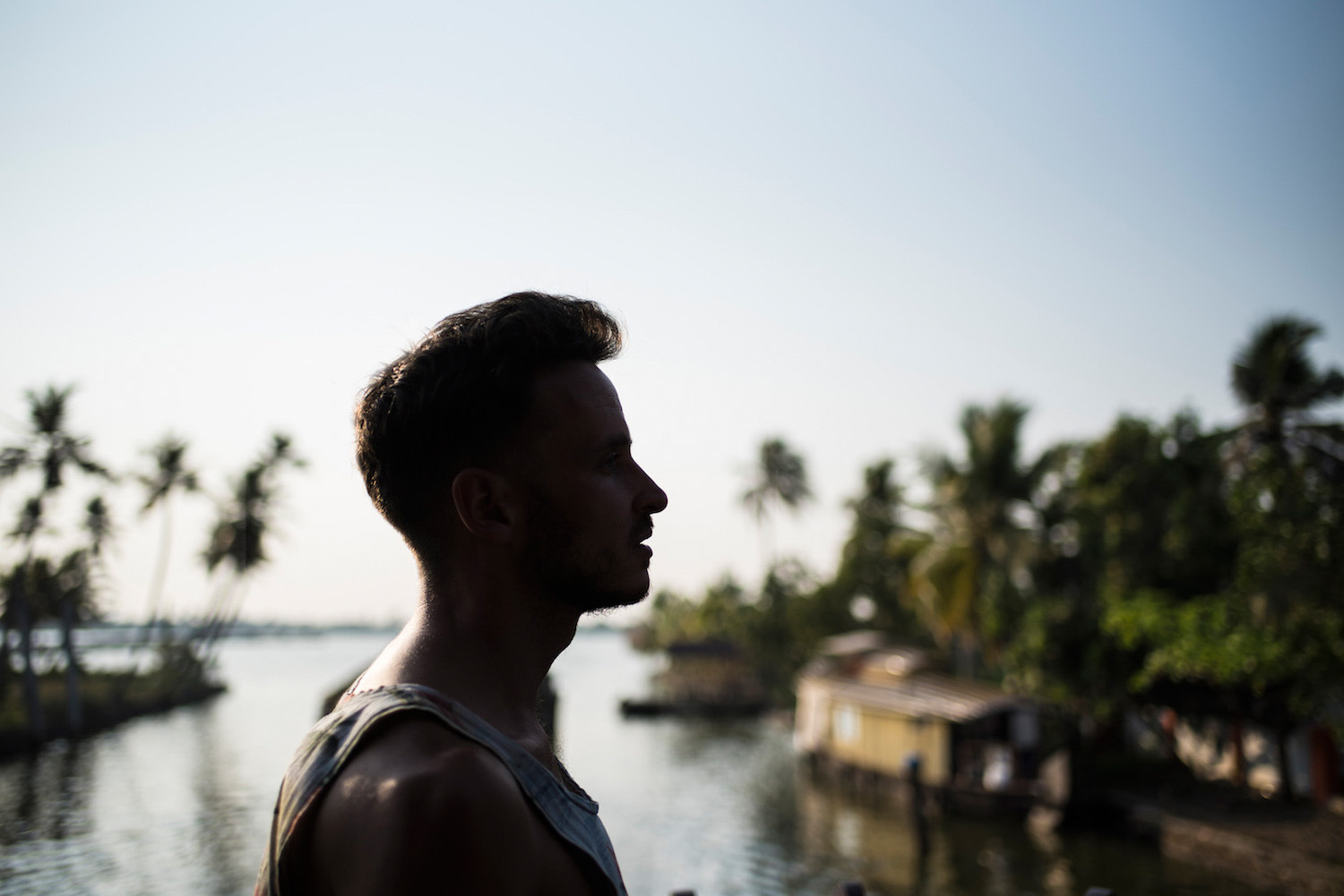 Robert Schrader in the Kerala Backwaters