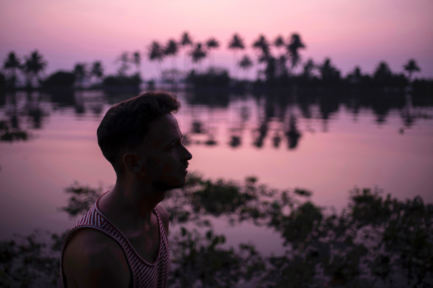 Robert Schrader in Kerala, India